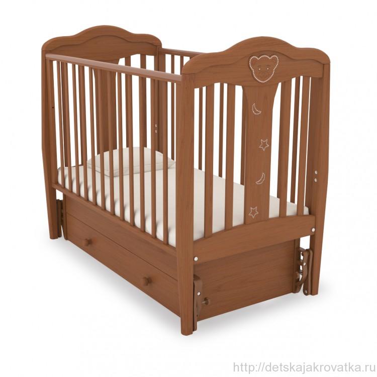 Детская кроватка для новорожденных с маятником