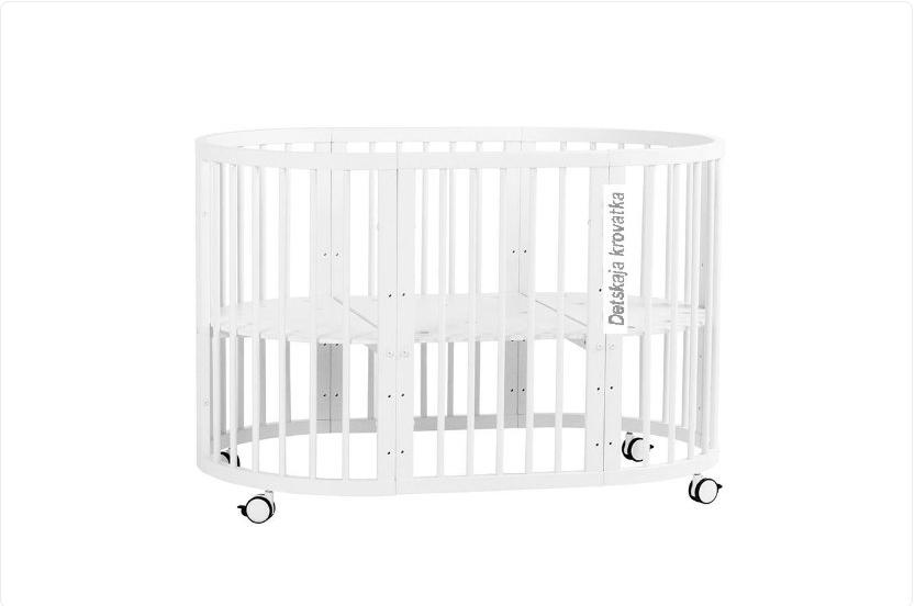 Детская кроватка 8 в 1 белая